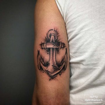 Sketch Anchor Hamburg Anker Ankertattoo _Harry Hafensänger HH Tattoo Tattoostudio Hamburg