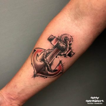 Sketch Anchor Anker Abstract Tattoo_Harry Hafensänger HH Tattoo Hamburg