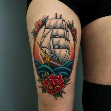 Traditional_Sailing_Ship_Tattoo_Oldschool-Harry_Hafensänger-HH-Tattoostudio_Hamburg