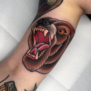 traditional-baer-bear-tattoo-oldschool-hamburg-tattoostudio-harry-hafensänger-holy-harbor