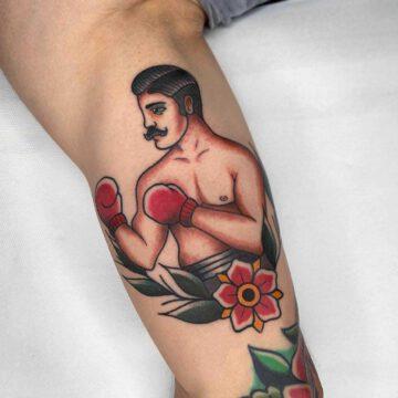 traditional-boxer-boxing-tattoo-oldschool-hamburg-tattoostudio-harry-hafensänger-holy-harbor