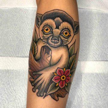traditional-lemur-tattoo-oldschool-hamburg-tattoostudio-harry-hafensänger-holy-harbor