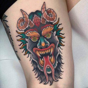 traditional-demon-tattoo-oldschool-hamburg-tattoostudio-harry-hafensänger-holy-harbor