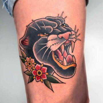 traditional-panther-tattoo-oldschool-hamburg-tattoostudio-harry-hafensänger-holy-harbor